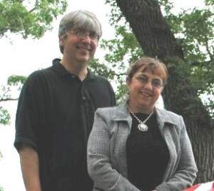 Diana Longrie with her husband, Kevin. Diana grew up in Grand Rapids, MN. Kevin grew up in Maplewood, MN